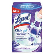 LYSOL Brand Click Gel Automatic Toilet Bowl Cleaner, Lavender,  0.16 oz, 4/Box