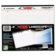 Roaring Spring Landscape Format Writing Pad, College Ruled, 11 x 9-1/2, White, 75 Sheets