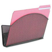 Safco Onyx Magnetic Mesh Panel Accessories, Single File Pocket, Black