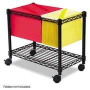 Safco Wire Mobile File, One-Shelf, 14w x 24d x 20-1/2h, Black