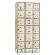 Safco Three-Column Box Locker, 36w x 18d x 78h, Two-Tone Tan