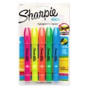 Sharpie Gel Highlighter, Assorted Colors, 5 per Set