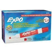 EXPO Low Odor Dry Erase Marker, Bullet Tip, Red, Dozen