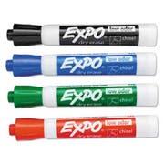 EXPO Low Odor Dry Erase Marker, Bullet Tip, Assorted, 4 per Set