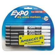 EXPO Low Odor Dry Erase Marker, Fine Point, Black, Dozen