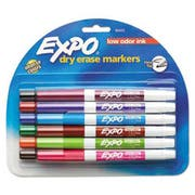 EXPO Low Odor Dry Erase Marker, Fine Point, Assorted, 12 per Set