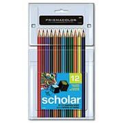 Prismacolor Scholar Colored Woodcase Pencils, 12 Assorted Colors/Set