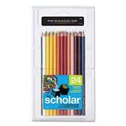 Prismacolor Scholar Colored Woodcase Pencils, 24 Assorted Colors/Set
