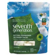 Seventh Generation Natural Dishwasher Detergent Concentrated Packs, Free & Clear, 45 Packets/Pack