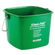 San Jamar Kleen-Pail, 6qt, Plastic, Green, 12/Carton