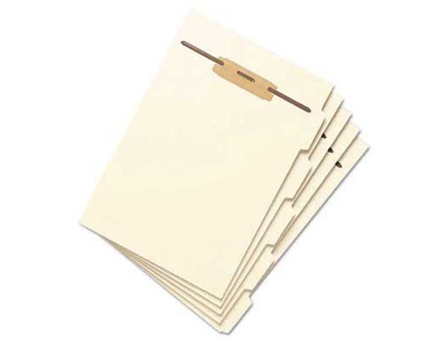 Smead Stackable Side Tab Letter Size Folder Dividers with Fastener, 1/2 inch, 10 Sets/Pack