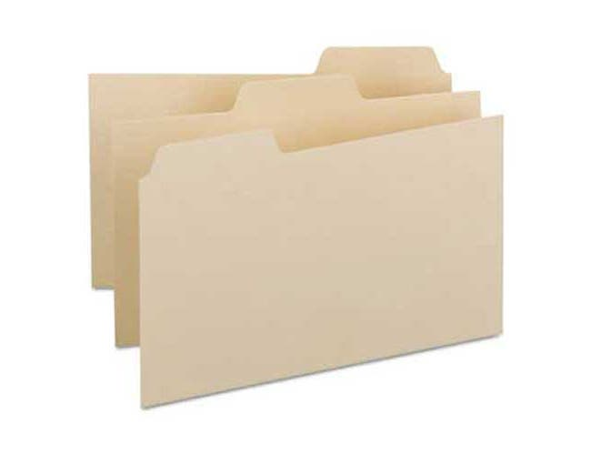 Smead Self-Tab Card Guides, Blank, 1/3 Tab, Manila, 8 x 5, 100/Box