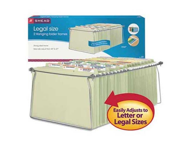 Smead Hanging Folder Frame, Legal Size, 23-27 inch Long, Steel, 2/Pack