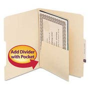 Smead MLA Self-Adhesive Folder Dividers with 5-1/2 Pockets on Both Sides, 25/Pack
