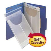 Smead Two-Hole Letter/Legal Poly Expanding Jackets, Legal/Letter, Poly, Clear, 24/Box