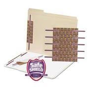 Smead SafeSHIELD Fasteners, 2 inch Capacity, Purple, 50/Box