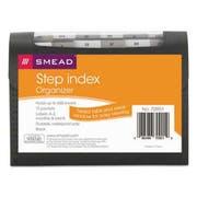 Smead Step Index Organizer, 12-Pocket, Letter, Poly, Black
