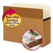 Smead Easy Grip Pockets, Redrope, Letter, 5 1/4 inch Exp, 10/Box