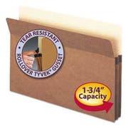 Smead 1 3/4 inch Exp Drop Front Pocket, Legal, Manila/Redrope, 25/Box