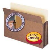Smead 3 1/2 inch Exp Drop Front Pocket, Legal, Manila/Redrope, 25/Box
