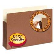 Smead 3 1/2 inch Exp File Pocket, Straight Tab, Legal, Manila/Redrope, 10/Bx