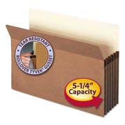 Smead 5 1/4 inch Exp File Pocket, Straight Tab, Legal, Manila/Redrope, 50/Bx