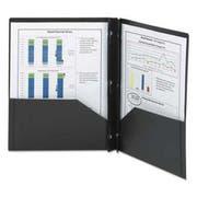 Smead Poly Two-Pocket Folder w/Fasteners, 11 x 8 1/2, Black, 25/Box