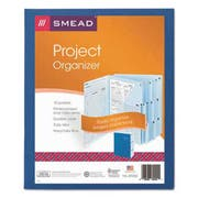 Smead Project Organizer Expanding File, 10 Pockets, Lake/Navy Blue