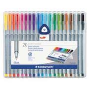 Staedtler triplus Fineliner Marker, Super Fine, Water-Based, 20 Color Set