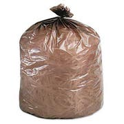 Stout Eco-Degradable Plastic Trash Garbage Bag, 39gal, 1.1mil, 33 x 44, Brown, 40/Box