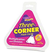 TREND Multiplication/Division Three-Corner Flash Cards, 8 & Up, 48/Set