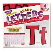 TREND Ready Letters Playful Combo Set, Red, 4 inchh, 216/Set