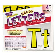 TREND Ready Letters Playful Combo Set, Yellow, 4 inchh, 216/Set