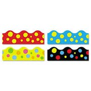 TREND Terrific Trimmers Border, 2 1/4 x 39 inch Panels, Lotsa Spots, Assorted, 48/Set
