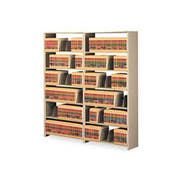 Tennsco Snap-Together Six-Shelf Closed Add-On, Steel, 36w x 12d x 76h, Sand