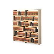 Tennsco Snap-Together Seven-Shelf Closed Add-On Unit, Steel, 48w x 12d x 88h, Sand
