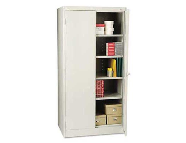 Tennsco 72 inch High Standard Cabinet, 36w x 24d x 72h, Light Gray