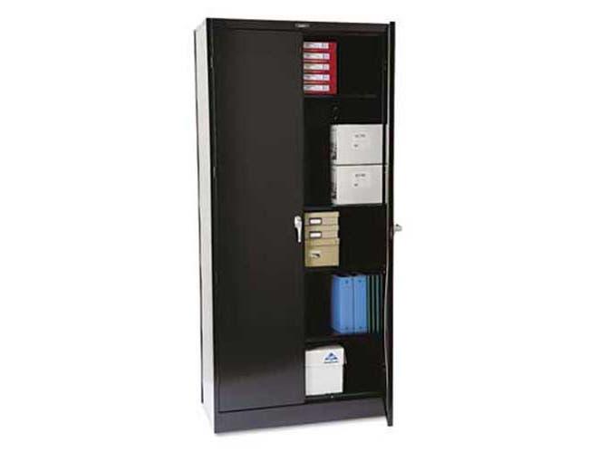 Tennsco 78 inch High Deluxe Cabinet, 36w x 18d x 78h, Black