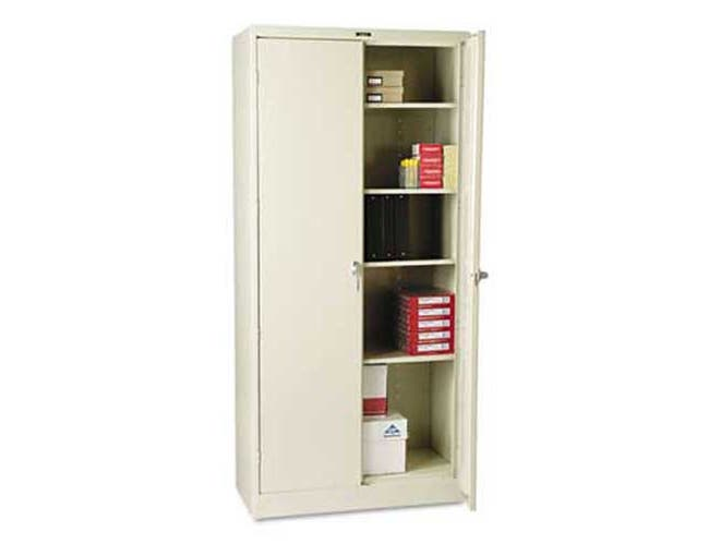 Tennsco 78 inch High Deluxe Cabinet, 36w x 18d x 78h, Putty
