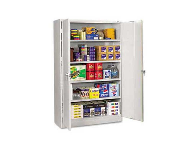 Tennsco Assembled Jumbo Steel Storage Cabinet, 48w x 18d x 78h, Light Gray