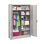 Tennsco Jumbo Combination Steel Storage Cabinet, 48w x 24d x 78h, Light Gray