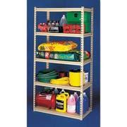 Tennsco Stur-D-Stor Shelving, Five-Shelf, 36w x 18d x 72h, Sand