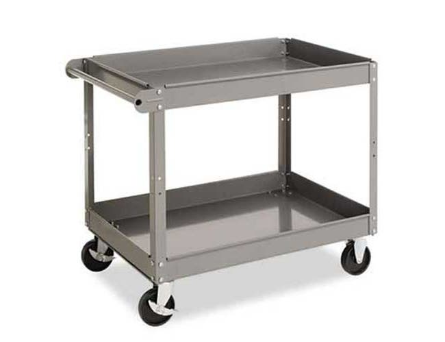 Tennsco Two-Shelf Metal Cart, 24w x 36d x 32h, Gray