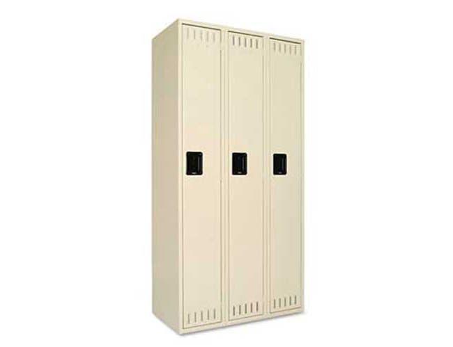 Tennsco Single Tier Locker, Three Units36w x 18d x 72h, Sand