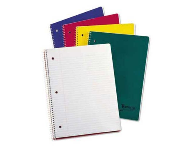 Oxford Earthwise 100% Recycled Single Subject Notebooks, 8 1/2 x 11, White, 80 Sheets