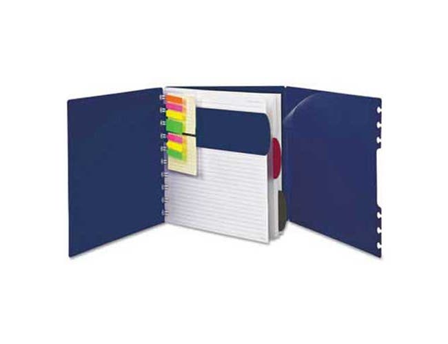 Ampad Versa Crossover Notebook, Wide-Rule, 8 1/2 x 11, Navy, 60 Sheets/Pad, 2/Pack