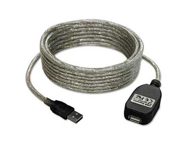 Tripp Lite USB 2.0 Extension Cable, A/A Gold, 16 ft, Black