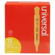 Universal Desk Highlighter, Chisel Tip, Fluorescent Orange, 12/Pk