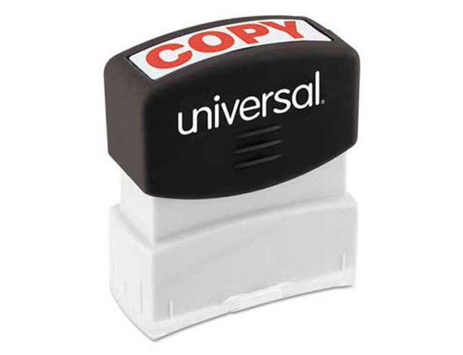 Universal Message Stamp, COPY, Pre-Inked/Re-Inkable, Red