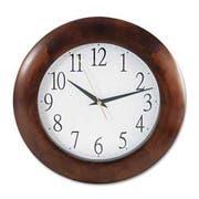 Universal One Round Wood Clock, 12-3/4 inch, Cherry